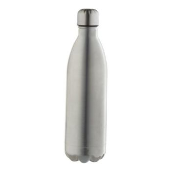 Personalised 1l Double Wall Vacuum Flask - Silver